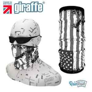 G397 USA Red Black Flag Headgear Neckwarmer multifunctional Bandana Headband