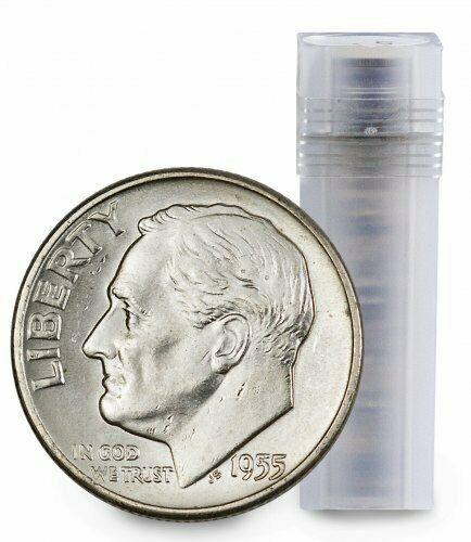 BU Roll of 50 $5 Face 90/% Silver Roosevelt Dimes Brilliant Uncirculated