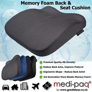 Image Is Loading Memory Foam Seat Lumbar Pain Support Booster Car