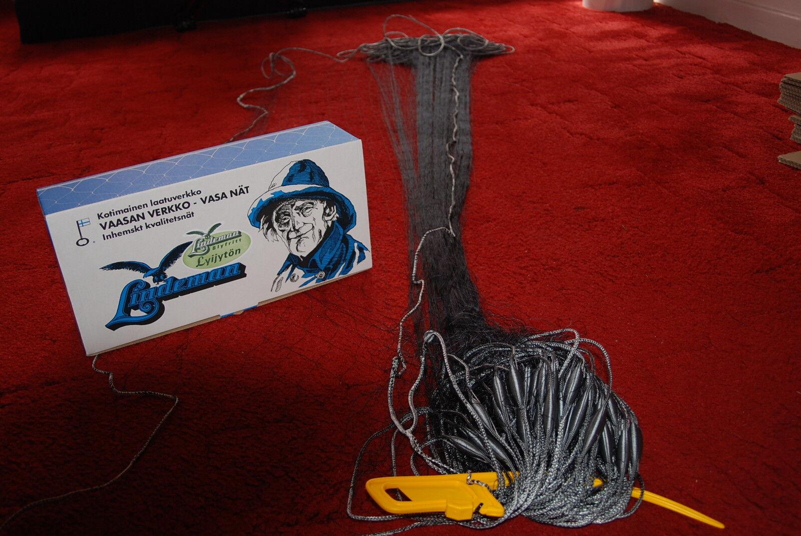 Fischernetz Stellnetz 30m,H 1,80mX 50mm  geflochtene