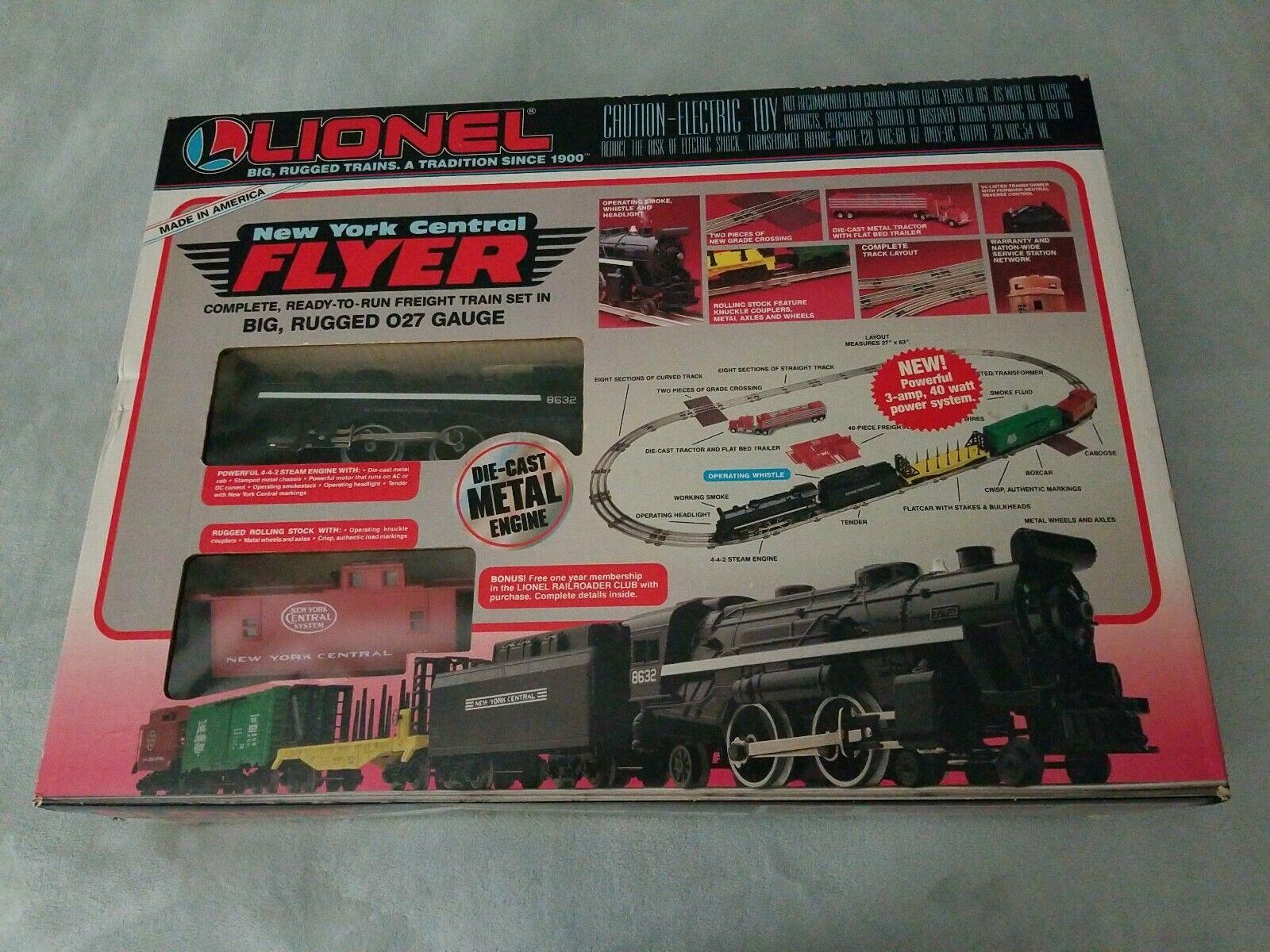 Lionel New York Central Flyer O27 Scale Train Set Box Complete 8632 4-4-2 1993