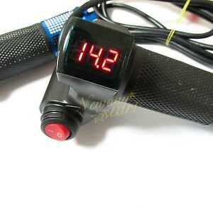 EBike-Electric-Scooter-Throttle-Grip-24-36-48-60v-Handlebar-LED-Digital-Meter