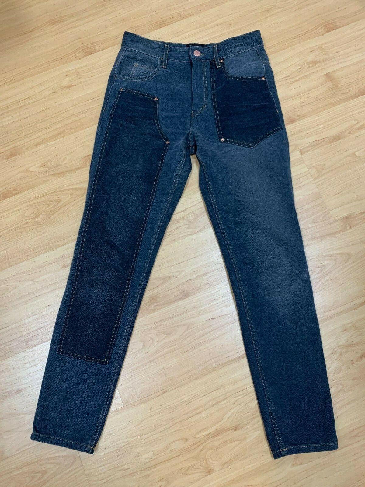 ISABEL MARANT Orrick makoré HIGH-RISE SLIM LEG JEANS noir taille 36 FR (4 US)