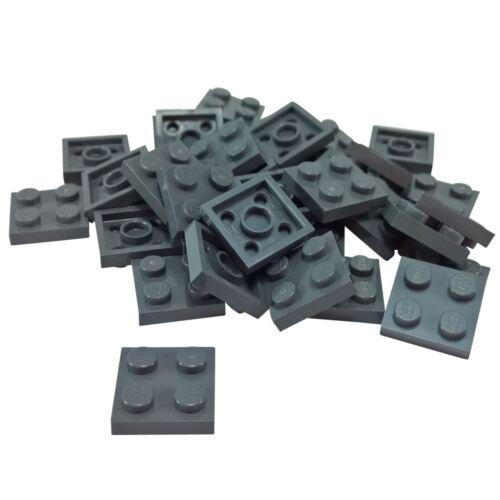 20 NEW LEGO Plate 2x2 Dark Bluish Gray