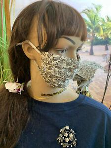 Atemmaske-Maske-Nasenmaske-Mundmaske-mit-cooler-Kapalua-Schmuckbrosche-passend