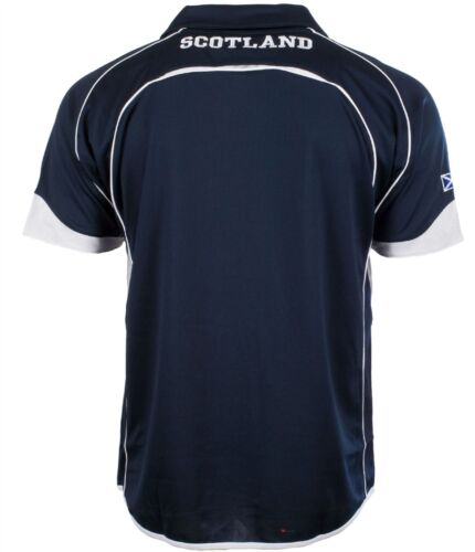 Scotland Design Cricket Top With Saltire And Thistle Design In Navy Size X-Large