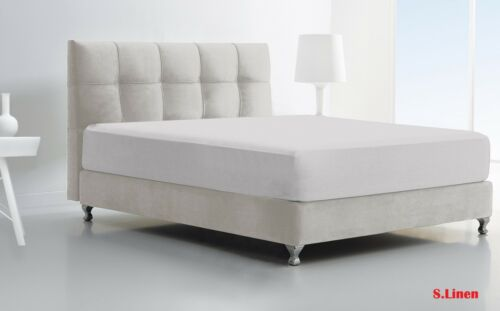 Fitted Sheets Luxury Percale Deep Plain Bed Sheet Single Double Super King Size