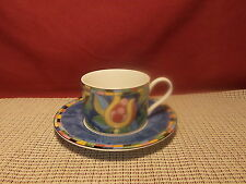 Interiors PTS Dinnerware Fantasia Pattern Cup & Saucer Set