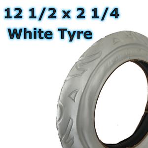 62-203 1 x Blanc landau pneu 12 1//2 X 2 1//4 poussette poussette Scooter