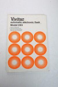 vivitar 283 electronic flash instruction manual english german f s rh ebay com Vivitar Mini Instruction Manuals Vivitar Camera Owners Manual