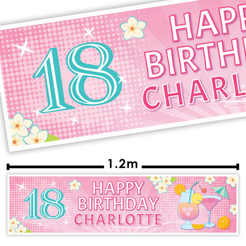 party decorations ALL 2 PERSONALISED PARTY BANNERS Adult birthday party banner