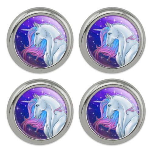 Majestic Unicorn Pink Purple Blue Metal Craft Sewing Novelty Buttons Set of 4