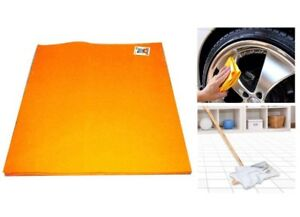 Orange-German-Shammy-Cleaning-Cloth-28-x-20-5-pak