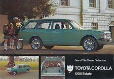 Toyota Corolla KE20 1200 Estate 1971-72 original UK Sales Brochure No. TC1200E/1