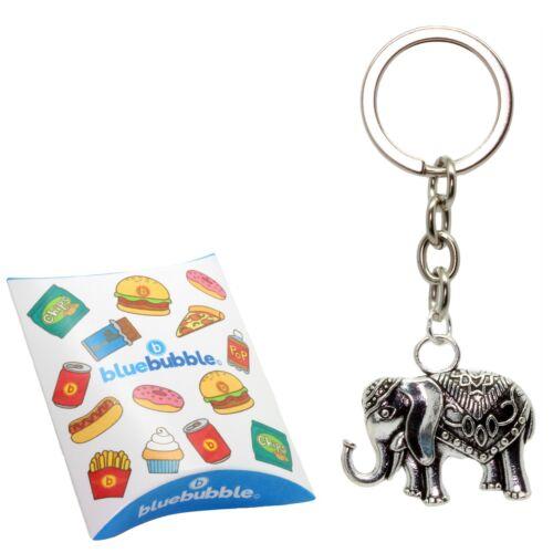 Bluebubble WILD AT HEART Indian Elephant Keyring Vintage Animal Novelty Keepsake
