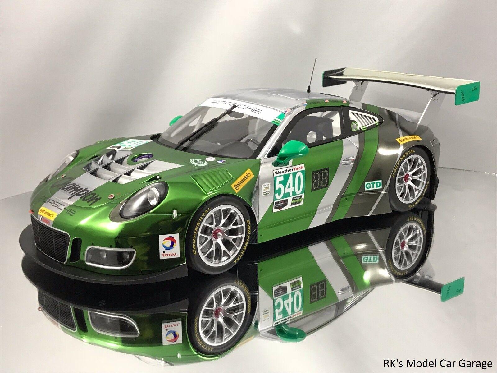 Minichamps Porsche 911 (991) GT3 R 24h Daytona 2016 verde 1 18
