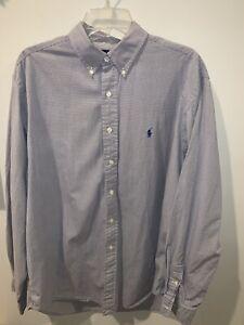 Polo-Ralph-Lauren-L-S-Dress-Shirt-Yarmouth-White-Blue-Tan-Mens-Sz-16-5-36-37
