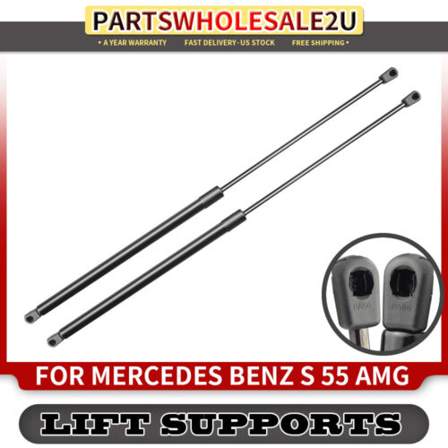 2x Front Hood Lift Supports for Mercedes Benz W220 S400 S430 S500 S55 S600 S65