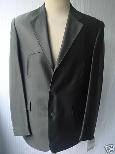 48R 40W New  Herren Western Wear Cowboy Suit Mineral grau