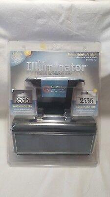 Black Whitehall Products Standard Wall Illuminator Solar Address Lamp