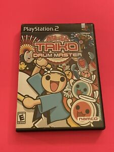 SONY-PS2-PlayStation-Two-COMPLETE-WORKING-GAME-TAIKO-DRUM-MASTER-FUN