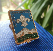 12th Boy Scout World Jamboree 1967 Idaho Neckerchief / Scarf SLIDE or WOGGLE