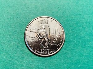 One Uncirculated from OBW Roll 2004 P Wisconsin Statehood Quarter Ships Free