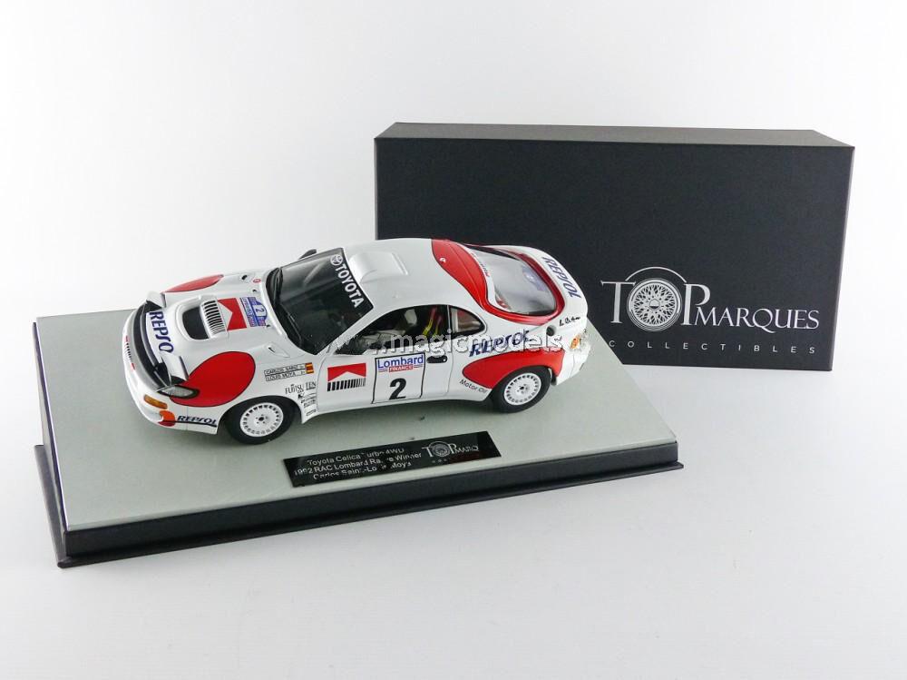 TOP MARQUES Toyota Celica GT4 Winner Rac Rally 1992 Sainz Moya échelle  2 1 18 nouveau