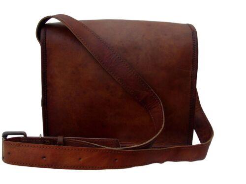 Men/'s New  Genuine Leather Brown Messenger Satchel i-paid School Shoulder Bag
