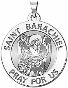 PicturesOnGold.com Saint Cecilia Round Religious Medal Singing or Sterling Silver - 14K Yellow or White Gold