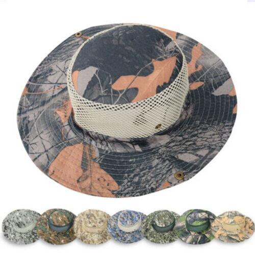 Bucket Hat Cap Cotton Fishing Boonie Brim Visor Sun Summer Men Camping New