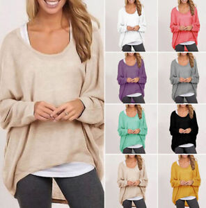 Fashion-Women-Long-Sleeve-Loose-Blouse-Casual-Summer-Shirt-Tops-Pullover-Sweater