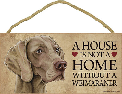 Bonus Coaster Weimaraner Wood Dog Sign Wall Wall Plaque Photo Display 5 x 10