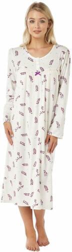Ladies Fleece Long Sleeve Nightie//Nightdress Plum Size 24//26