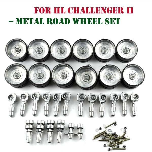Heng Long 116 Challenger británico Tanque RC 2 piezas de metal conjuntos de rueda de carretera Actualizado