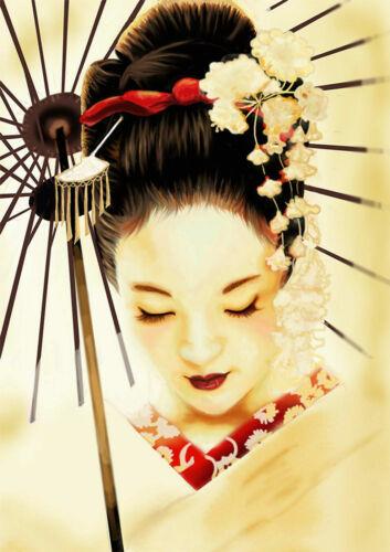 GEISHA JAPANESE Art Silk Poster 24x36inch