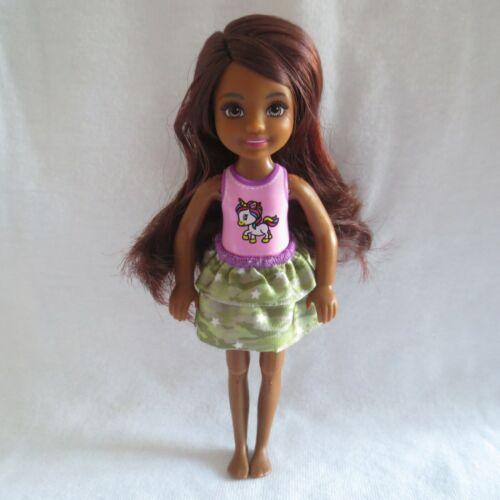 NEW Barbie Sis Chelsea AA Friend Unicorn Camo Horse Riding Doll Bendable Knees