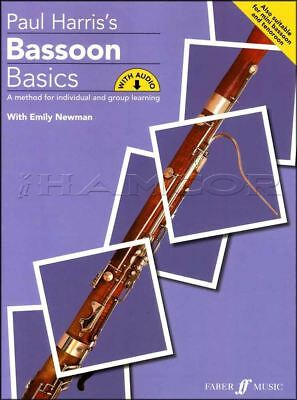 Sheet Music & Song Books Paul Harris Bassoon Basics Sheet Music Book/audio Learn How To Play Method Instruction Books, Cds & Video