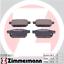 FZ, NZ 1.2 90-94 PS Hinten Zimmermann Bremsscheiben /& Beläge SUZUKI SWIFT IV