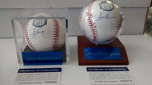 Alex Rodriguez autograph on Yankee Stadium Final Season logo MLB baseball