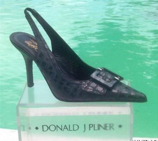 a buon mercato Donald Pliner Couture Distress Metallic Kogi Gator Leather Pump scarpe scarpe scarpe  395 NIB  buona qualità