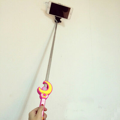 Sailor Moon Extendable Handheld Portrait Selfie Stick Photo Taking Holders New