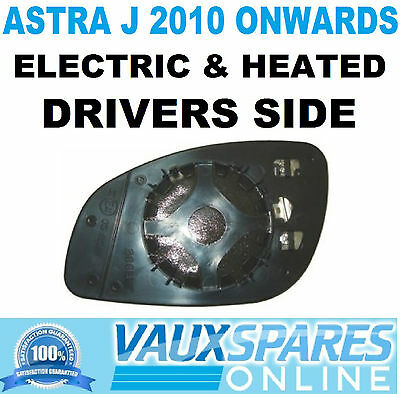 Vauxhall Astra J Right Drivers Side Heated Wing Mirror Glass For 2010 To 2015