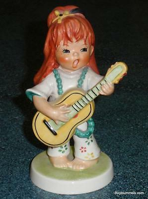 "Red Headed Girl Playing Guitar Goebel Figurine ""Swinger"" BYJ62 - CHRISTMAS GIFT!"