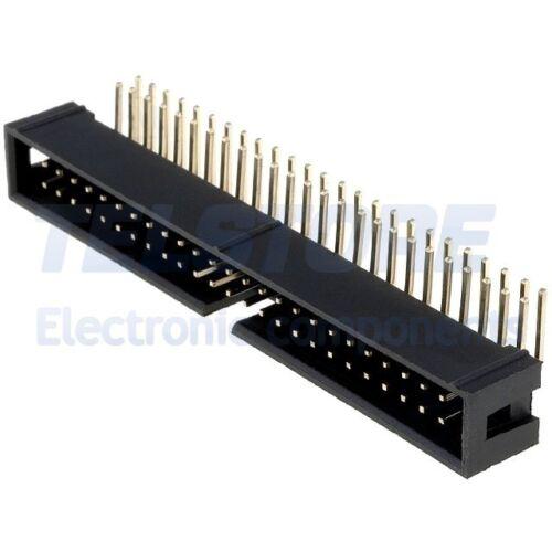 2 Connettore IDC maschio 50 poli angolo 90° per cavo piatto ribbon