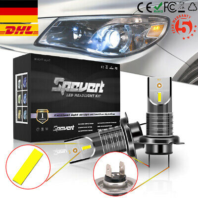 2x Super Mini H4 Car LED Headlight Bulbs Conversion Kit 100W Scheinwerfer Lampen