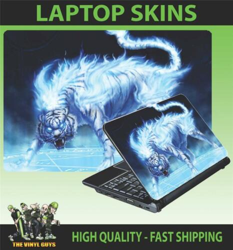 LAPTOP SKIN TIGER FIRE FANTASY ART VINYL STICKER VARIOUS SIZES ACCESSORIES