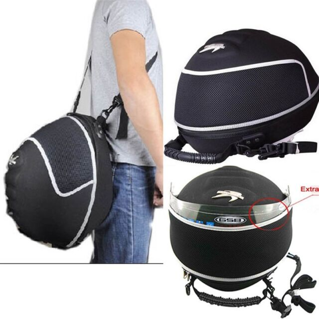 New Racing Rally Black Motorcycle Bike Helmet Bag Headcase Race Lid Carry Case