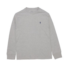 Polo Ralph Lauren Kid's Heather Grey Classic Round Neck L/S T-Shirt