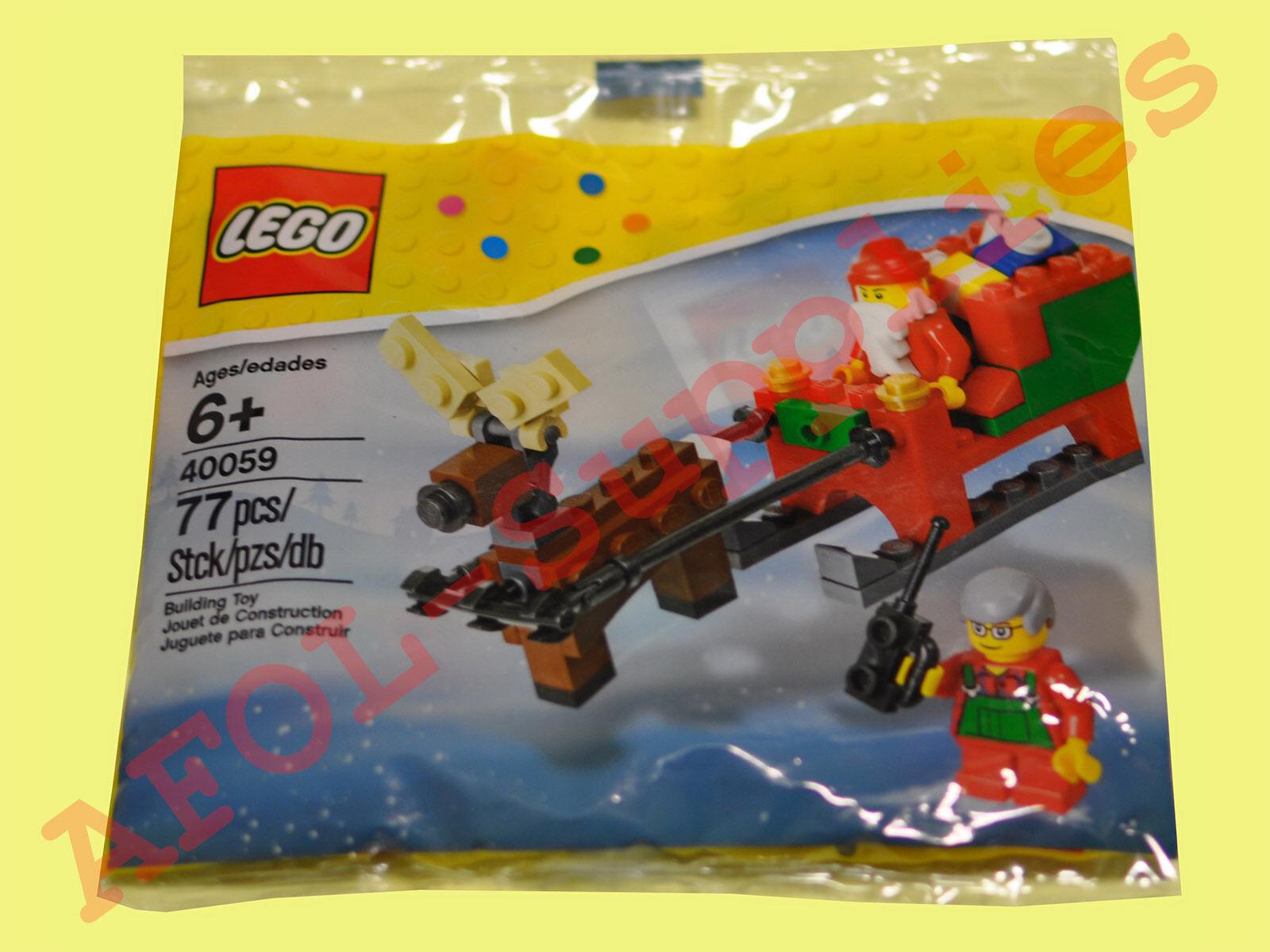 LEGO 40059 Christmas (Weihnachten) LEGO Santa Sleigh (Schlitten) Polybag